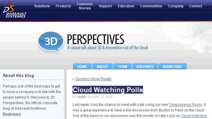 cloud watching polls