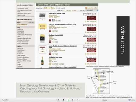 faceted search wine example - wine.com