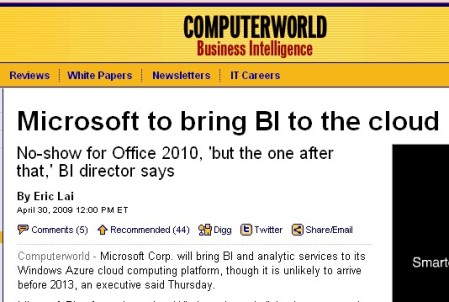 MS BI on cloud