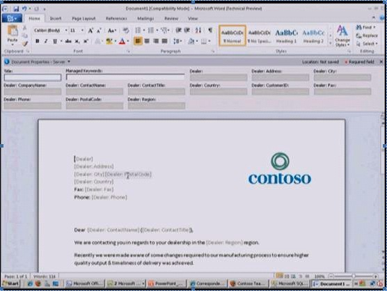 Metadata view and update in Office applications